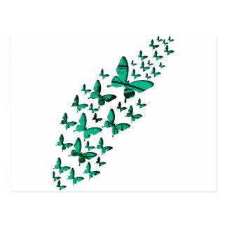 緑の蝶切り出し ポストカード