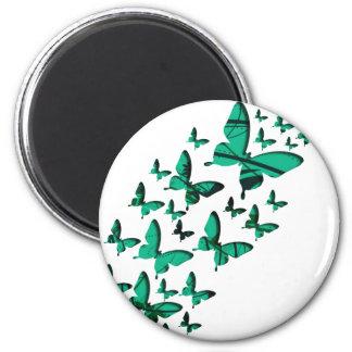 緑の蝶切り出し マグネット