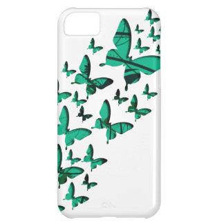 緑の蝶切り出し iPhone5Cケース