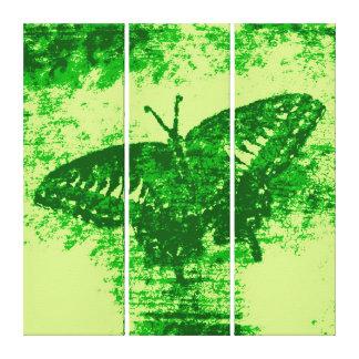 緑の蝶絵画の芸術Monet キャンバスプリント