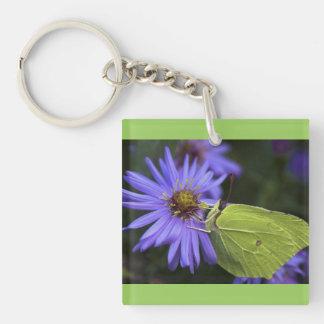 緑の蝶 キーホルダー