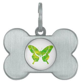 緑の蝶 ペットネームタグ