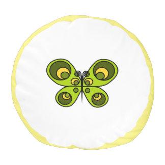 緑の蝶Poufの枕 プーフ