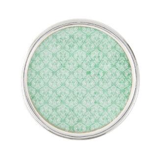 緑の衰退したグランジなダマスク織 ラペルピン