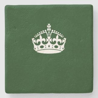 緑の装飾の穏やかな王冠を保って下さい ストーンコースター