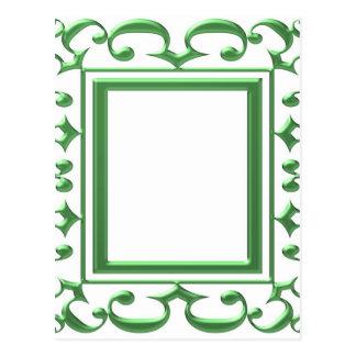 緑の装飾的なボーダー: 数々のな使用を考えて下さい ポストカード