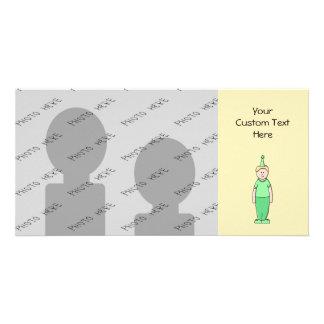 緑の誕生日の男の子の漫画 カード