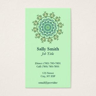 緑の貝の万華鏡のように千変万化するパターン 名刺