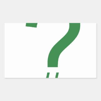 緑の質問ラベルかハッシュマーク 長方形シール