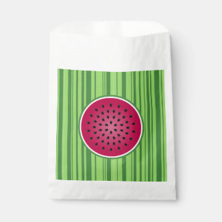 緑の赤いスイカのデザイン フェイバーバッグ