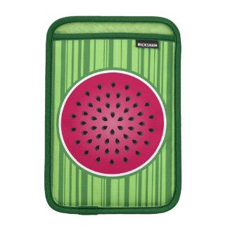 緑の赤いスイカのデザイン iPad MINIスリーブ