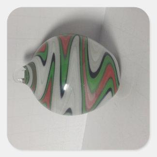 緑の赤く白いdichroのかつらのおどけ者パターン スクエアシール