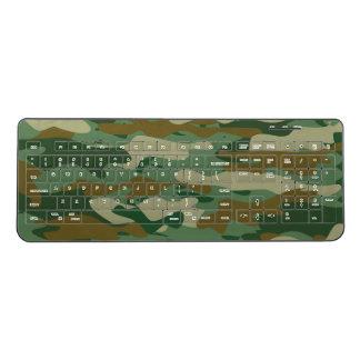 緑の軍隊のカムフラージュのPCの賭博の無線電信のキーボード ワイヤレスキーボード