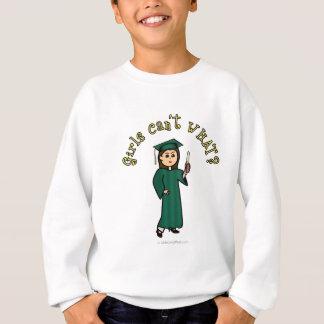 緑の軽い卒業生 スウェットシャツ