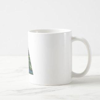 緑の輝きの三角形のピラミッドNVN237 NavinJOSHI コーヒーマグカップ