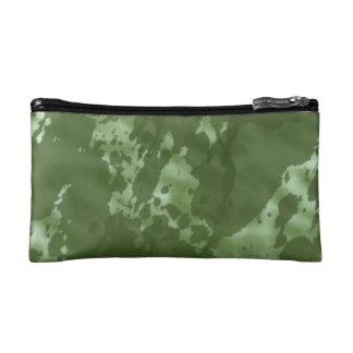 緑の迷彩柄 コスメティックバッグ