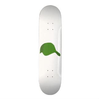緑の野球帽 19.7CM スケートボードデッキ