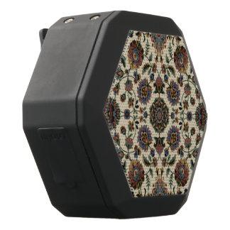 緑の野生の花のタペストリーの螺線形フレーム ブラックBluetoothスピーカー