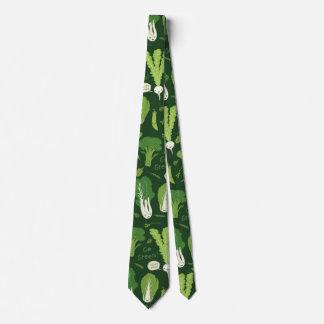 緑の野菜パターン ネクタイ