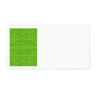 緑の金のテーマの機構のコレクション 発送ラベル