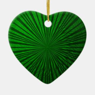 緑の金属錯覚 セラミックオーナメント