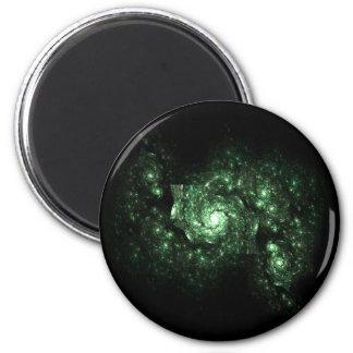 緑の銀河系のフラクタル マグネット