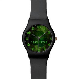 緑の銀河系の宇宙 腕時計