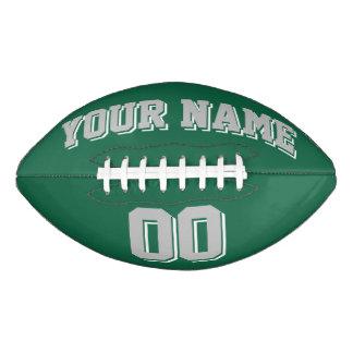 緑の銀製の灰色および白の習慣のフットボール アメリカンフットボール