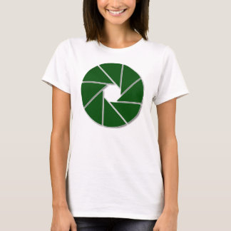緑の開き Tシャツ