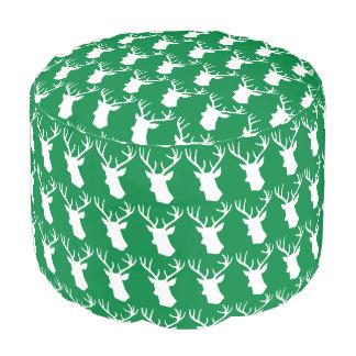 緑の雄鹿の頭部パターン プーフ