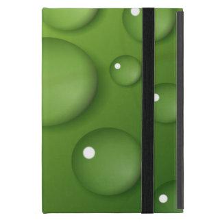 緑の雨滴パターン iPad MINI ケース