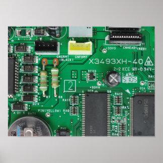 緑の電子回路のボード・コンピュータパターン プリント