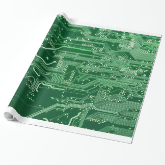 緑の電子回路のボード・コンピュータパターン ラッピングペーパー