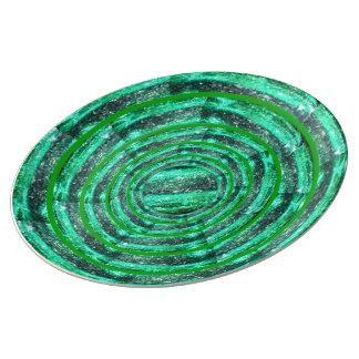 緑の電気石は磁器皿を鳴らします 磁器プレート