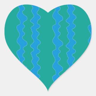 緑の青 ハートシール