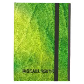 緑の革 iPad AIRケース