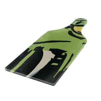 緑の顔モンスター カッティングボード