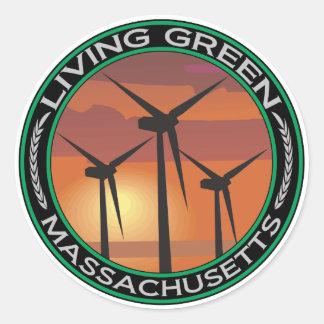 緑の風マサチューセッツ ラウンドシール