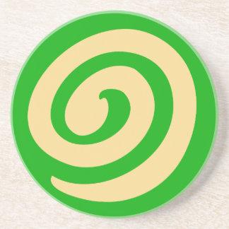 緑の風車のクッキー コースター