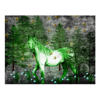 緑の馬の中国のな年 ポストカード