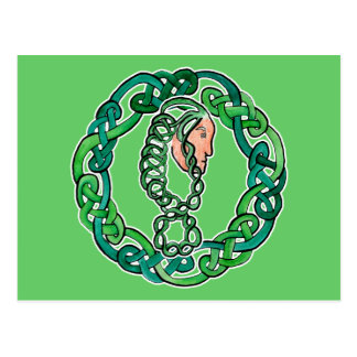 緑の髪のケルト族の頭部 ポストカード