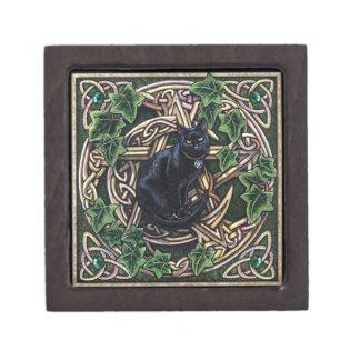 緑の魔法使い魔法の五芒星および猫 ギフトボックス