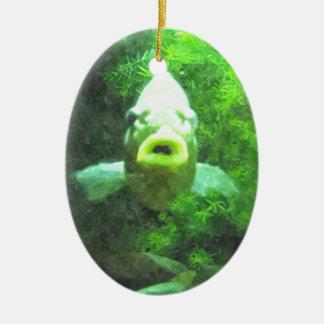 緑の魚 セラミックオーナメント