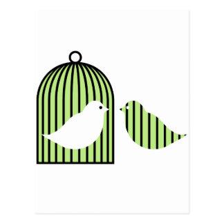 緑の鳥かご ポストカード