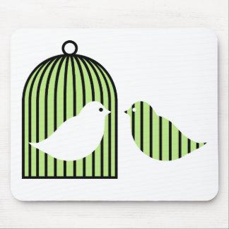 緑の鳥かご マウスパッド