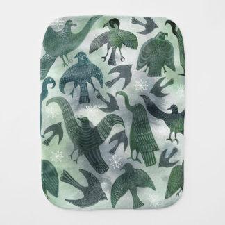 緑の鳥のベビー用バーブクロス バープクロス