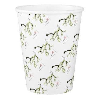 緑の鳥、贅沢なfernandesを持つ桜 紙コップ