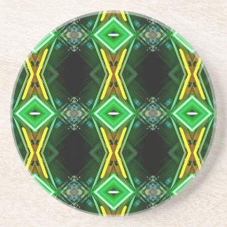 緑の黄色いネオン粋な種族パターン コースター