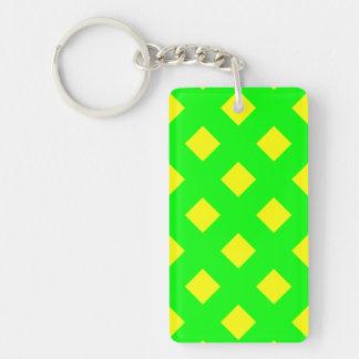 緑の黄色いパターン倍はキーホルダー味方しました キーホルダー