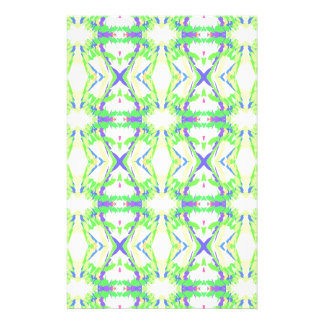 緑の黄色い種族パターンとの青いDNAの形 便箋